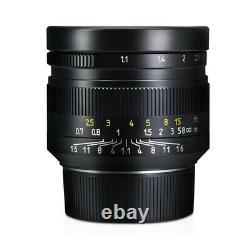 EU SHIP! 7Artisans 50mm f/1.1 lens modified for T TL CL SL Leica L M-mount Black