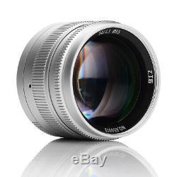 EU SHIP SILVER 7Artisans 50mm f/1.1 lens modified for T TL CL SL Leica L/M mount