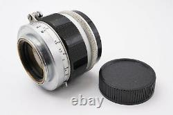 EXC+4 Canon 50mm f/1.4 MF Prime Leica Screw L39 LTM Mount Lens From Japan