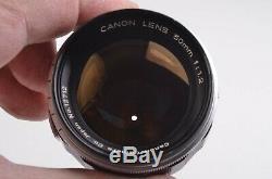 EXC++ CANON 50mm f1.2 LEICA SCREW MOUNT LTM L39 FOR RANGEFINDER CAMERAS, SHARP