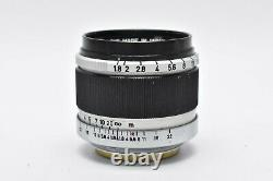 EXC+++++ CANON Lens 50mm f/1.8 Leica Screw Mount LTM L L39 Lens from Japan