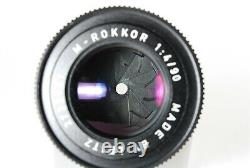 EXC+++++Leitz Minolta M-Rokkor 90mm F/4 Leica M Mount Lens From JAPAN