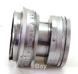 Early radioactive Leica 50mm 5cm f/2 Summicron lens M mount EXC+ #31425