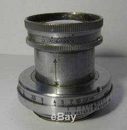 Ernst Leitz Summar 5cm 50mm F2 Collapsible LTM M39 Screw Mount Lens Leica camera
