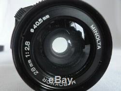 Exc+3 MINOLTA M-ROKKOR 28mm F2.8 Lens for Leica M mount Minolta CL CLE #0620