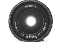 Exc+4 MINOLTA M-ROKKOR 28mm f2.8 Leica M mount Lens CL CLE From JAPAN h40