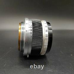 Exc+ 5 Canon 35mm F/2.8 Black LTM Lens for L39 Leica Screw Mount from JAPAN