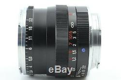 Exc+5 Carl Zeiss Planar T 50mm F/2 ZM Lens for Leica M Mount From Japan #183