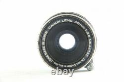 Exc Canon 35mm F/2.8 F 2.8 MF Lens L39 Mount for LTM Leica Camera from JP #2319