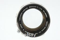 ExcellentCanon 50mm F1.4 LTM Leica Screw Mount Lens From Japan #104370/233
