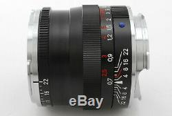 Excellent Carl Zeiss Planar T 50mm F/2 ZM Lens for Leica M Mount (434-A32)