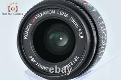 Excellent! Konica M-HEXANON 28mm f/2.8 Leica M Mount Lens