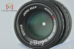 Excellent-! Konica M-HEXANON 50mm f/2 Leica M Mount Lens