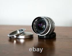 Excellent Voigtlander Color-Skopar 50mm f2.5 Lens Leica L39 with M-Mount Adapter