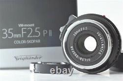 FedExBOXED N MINT++ Voigtlander Color Skopar 35mm f2.5 PII For Leica M Mount