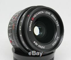 KONICA HEXANON M 28mm F2.8 LENS LEICA M BAYONET MOUNT