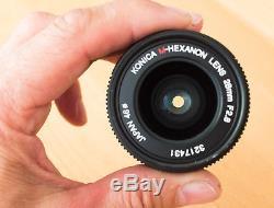 KONICA M-Hexanon 28mm F2.8, Leica-M mount Bajonett