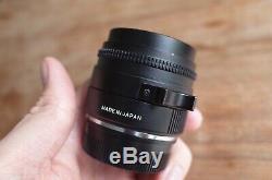 Konica M-Hexanon 35mm f2 Lens Leica M Mount