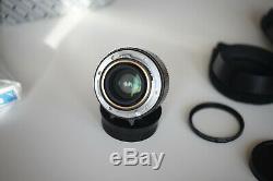 Konica M Hexanon 35mm f/2.0, KM / Leica M mount pristine