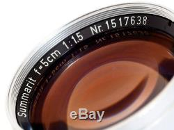 LEICA 50mm 1.5 SUMMARIT M MOUNT 1953 EXCELLENT