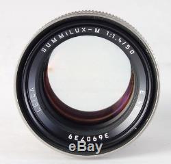 LEICA 50mm f/1.4 SUMMILUX-M MF CAMERA LENS! TITAN TITANIUM M MOUNT 11.4/50 mm