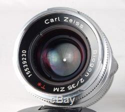 LEICA CARL ZEISS 35mm f/2 ZM T BIOGON MF CAMERA LENS! M MOUNT RANGEFINDER 2/35