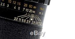LEICA ELMARIT 90mm f2.8 LENS IN BLACK M MOUNT 1970 LOVELY