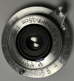 LEICA ELMAR Screw mount 3.5/3.5 cm 64° Année 1935
