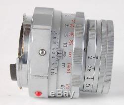 LEICA LEITZ WETZLAR 50mm f/2 SUMMICRON MF DUAL RANGE CAMERA LENS! M MOUNT 12/50
