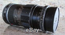 LEICA LEITZ WETZLAR 90mm f/2.8 MF CAMERA LENS M MOUNT BLACK 12.8/90 RANGEFINDER
