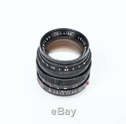 LEICA LEITZ WETZLAR SUMMILUX 50mm f/1.4 Lens Type 2 Black (M Mount)