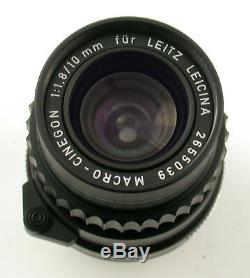 LEICA Macro-Cinegon 1,8/10 10 10mm F1,8 1,8 M-mount Bajonett Leitz Germany