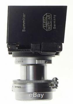 LEICA SUMMITAR 12 f=5cm M39 screw M mount rangefinder camera lens 2/50 filters