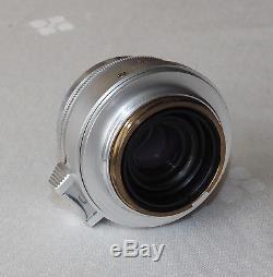 LEITZ LEICA 35mm f2.8 SUMMARON LTM SCREW MOUNT CAPS & MINTY! SIMOO cat no 11006