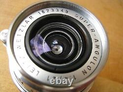 Leica 21mm Super Angulon f/4 Lens in Leica M Mount Convertible to M39 LTM