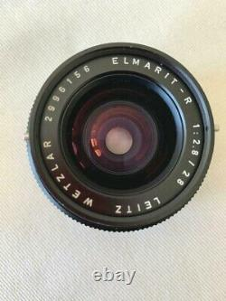 Leica 28mm F/2.8 Elmarit 3 Cam Late R Mount Lens with Canon EF adapter mount