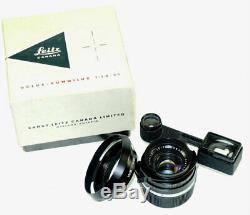 Leica 35/1,4 Summilux RF M mount black paint Withinfinity lock, box, hood, caps RARE