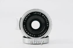 Leica 35mm F2.8 Summaron Screw Mount or M Plus Rare Finder and Hood Excellent