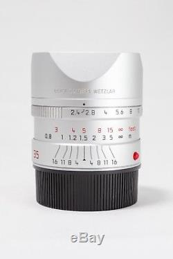 Leica 35mm F/ 2.4 Summarit ASPH M Mount Lens 11679, Silver, With Box EXCELLENT+