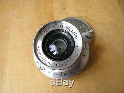 Leica 35mm Summaron f/3.5 Lens in Leica Screw Mount M39