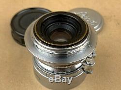 Leica 3.5cm 35mm f/3.5 Summaron Leitz M39 Screw Mount Lens with Caps & Hood