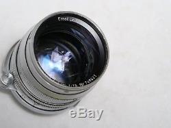 Leica 50mm (5CM) F/1.5 Summarit Scrw mount lens with M adaptor