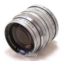 Leica 50mm 5cm f/1.5 Summarit lens LTM screw mount EXC+
