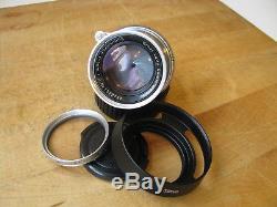 Leica 50mm Summicron Collapsible Lens in Leica M Mount Feet CLA'd