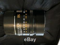 Leica 50mm f/2 APO Summicron M Mount ASPH Lens (Black) Apochromatic