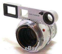 Leica 50mm f/2 Summicron close focus dual range DR chrome lens M mount EXC++