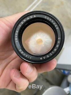 Leica 90mm f2.0 Summicron 2371440 M-Mount Exc