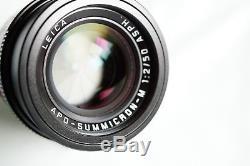 Leica Apo Summicron-M 50mm f/2 ASPH 6-bit, E39 lens, M-mount