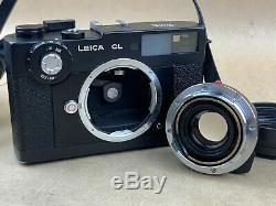 Leica CL Film Camera with 40mm f/2 Summicron-C M mount Lens & Soft Case Nice