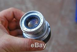 Leica Elmar 50mm f2.8 lens Leica screw mount With Leica M adaptor